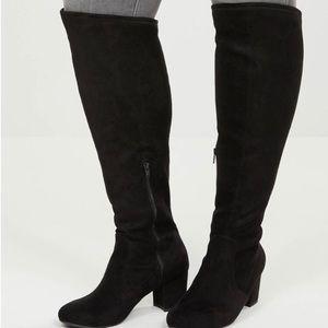 Lane Bryant Audrey Over Knee Faux Suede Boots Sz9